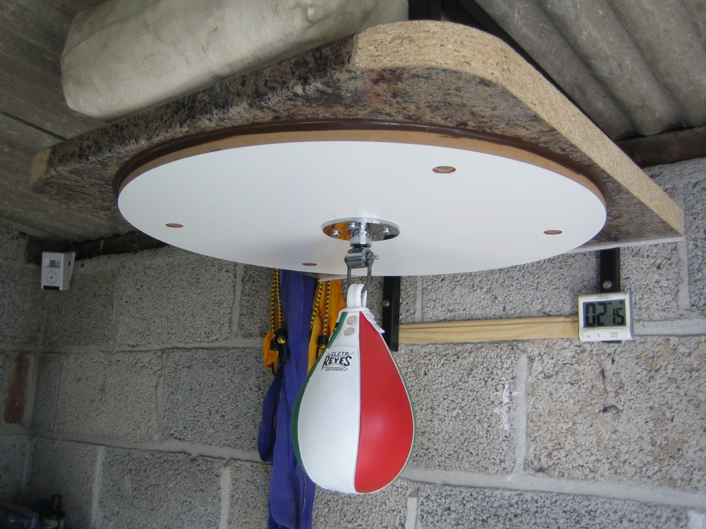 Mounting a platform with low ceiling height - Speed Bag Forum